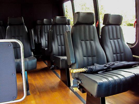 Mini Bus 14 Passenger Interior