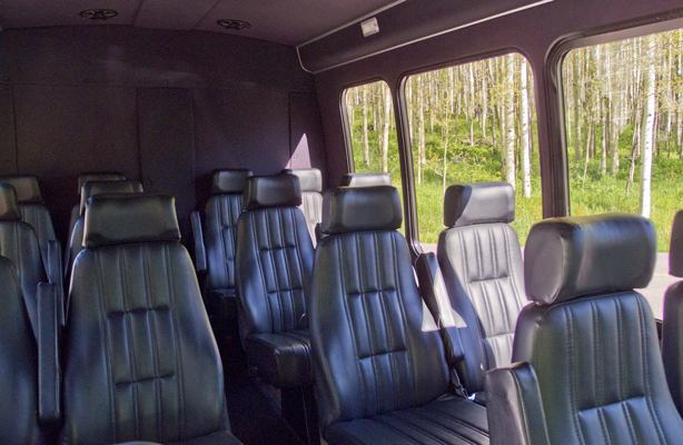 14 Passenger Mini Bus Interior